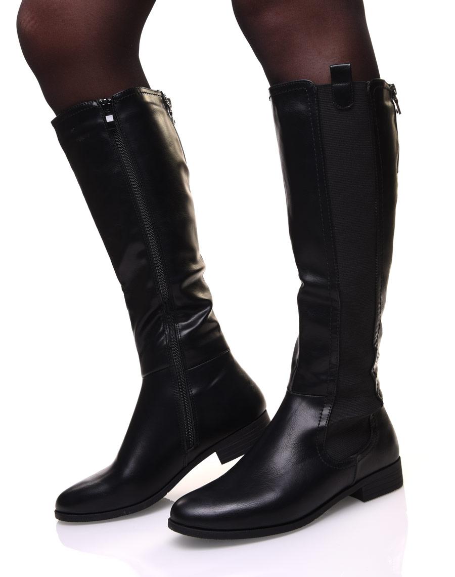 botte cavaliere noire femme