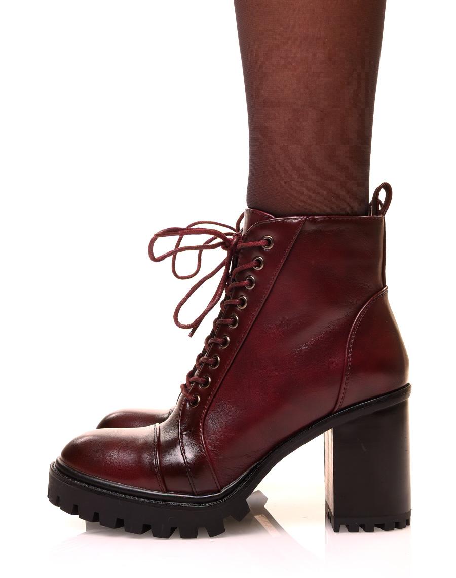 bottines lacets femme