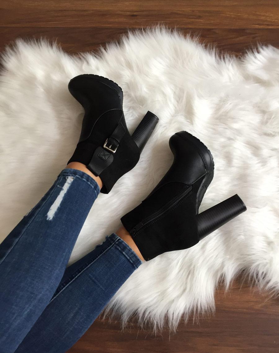 bottines noir haut talons