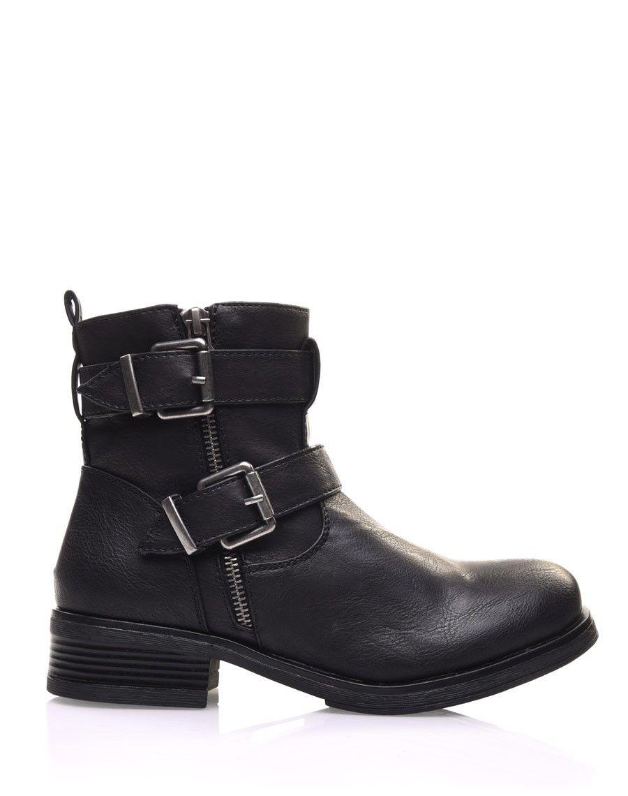 Découvrez chaussure vente de sortie Bottines noires à boucles