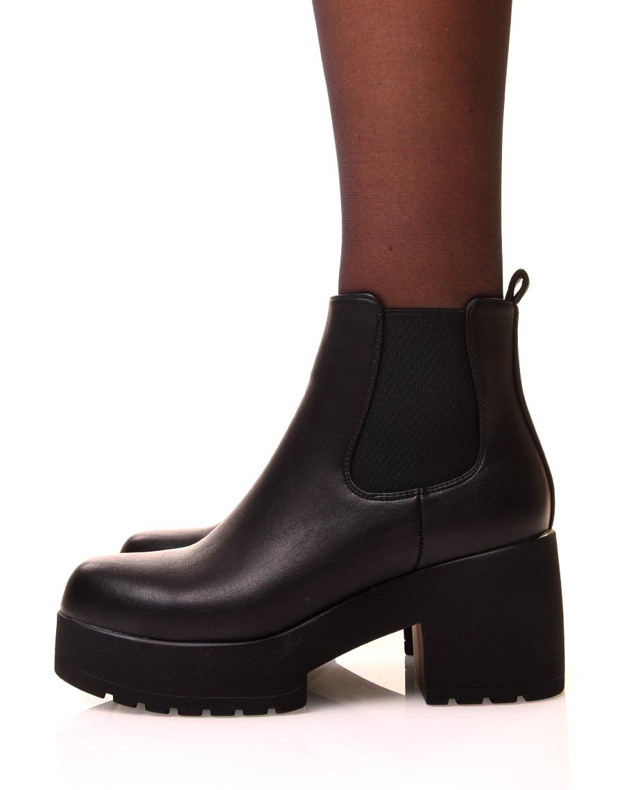 bottines femme noires sans talon