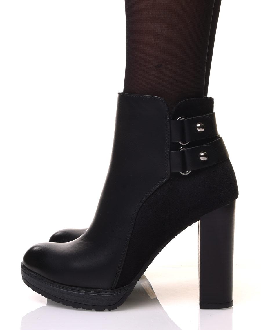 bottines noires à talons hauts