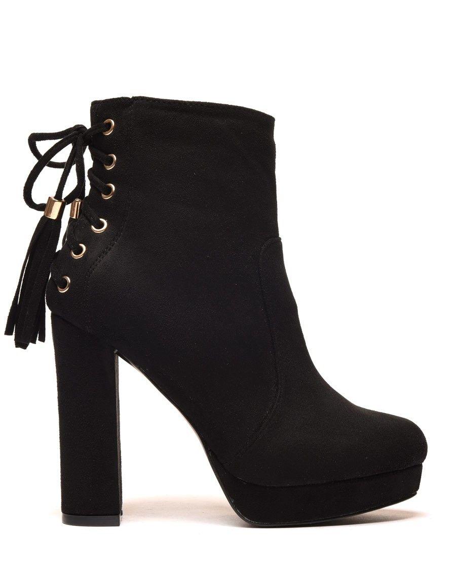 Bottine bottes à talon pas cher femme | Chaussure femme pas