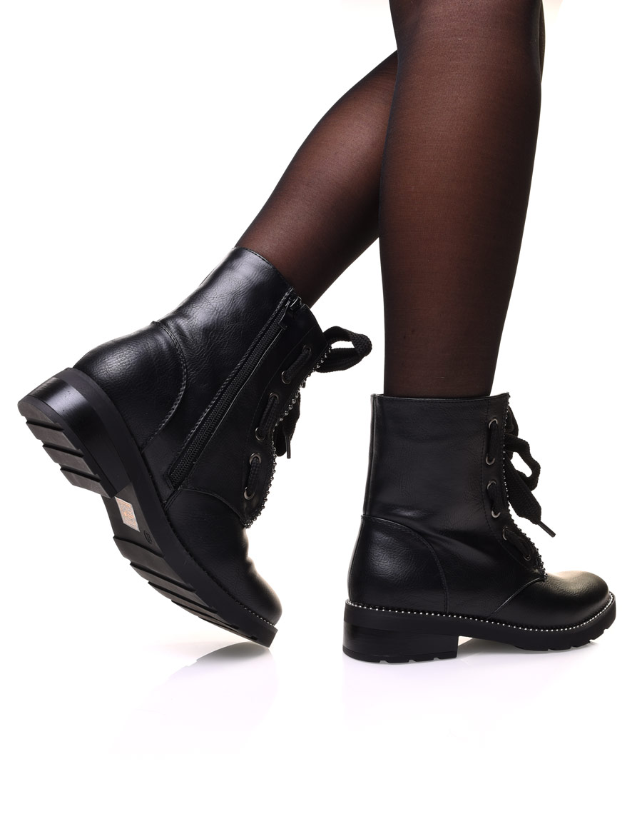 bottines montante noires