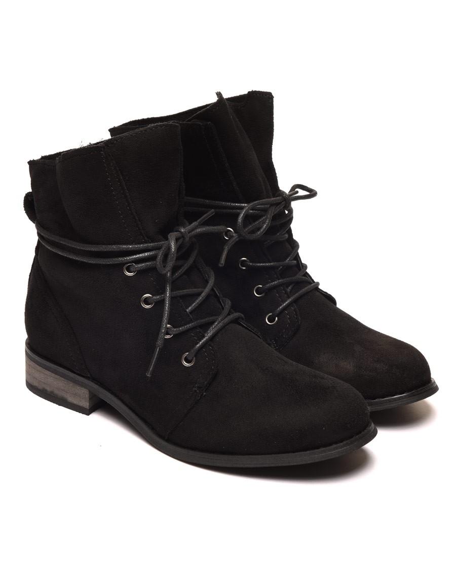 Favori plates noires avec haut souple et lacets SE56