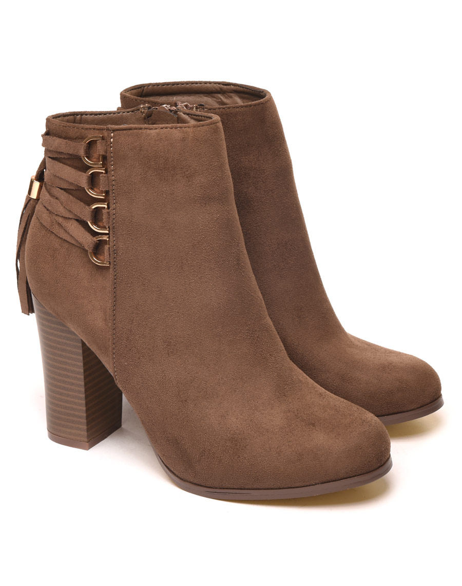 bottines a lacets arriere