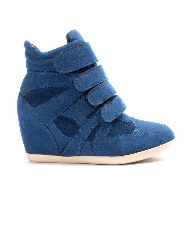 Chaussure femme Findlay: Basket compensé bleu