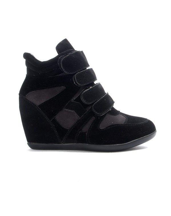 Chaussure femme Findlay: Basket compensé noire