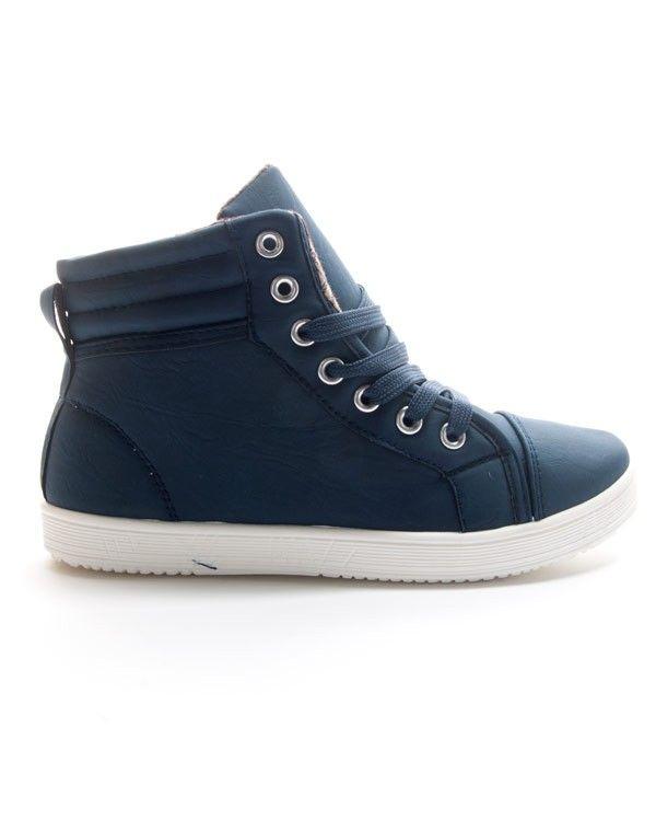 vente énorme nouveau design sans précédent Chaussure femme Style Shoes: Basket montante - bleu
