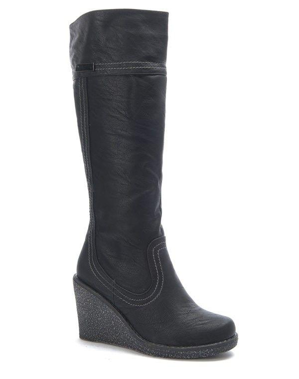 CBotte Talon Femme Noire Compensé Sunrise Chaussure EH2ID9