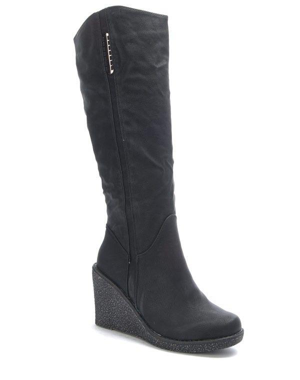 CBotte compensé Sunrise femme Chaussure talon noire qSzMVUp