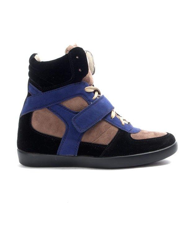 Chaussures femme Findlay: Basket compensée noire