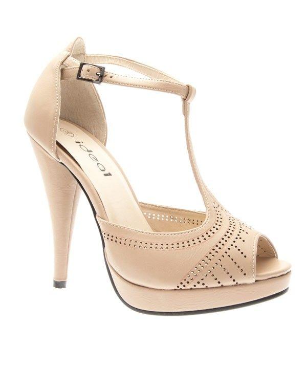 chaussures femme ideal escarpins style salom beige. Black Bedroom Furniture Sets. Home Design Ideas