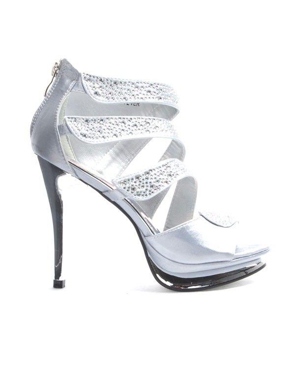 revendeur dcebf 64a3e Chaussures femme Jennika: Escarpin argent