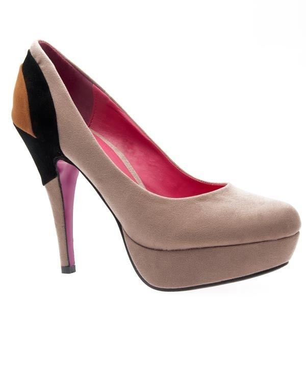 escarpin multicolore beige chaussures femmes. Black Bedroom Furniture Sets. Home Design Ideas