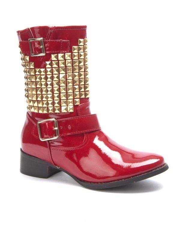 chaussures femme sergio todzi botte vernis clout rouge. Black Bedroom Furniture Sets. Home Design Ideas