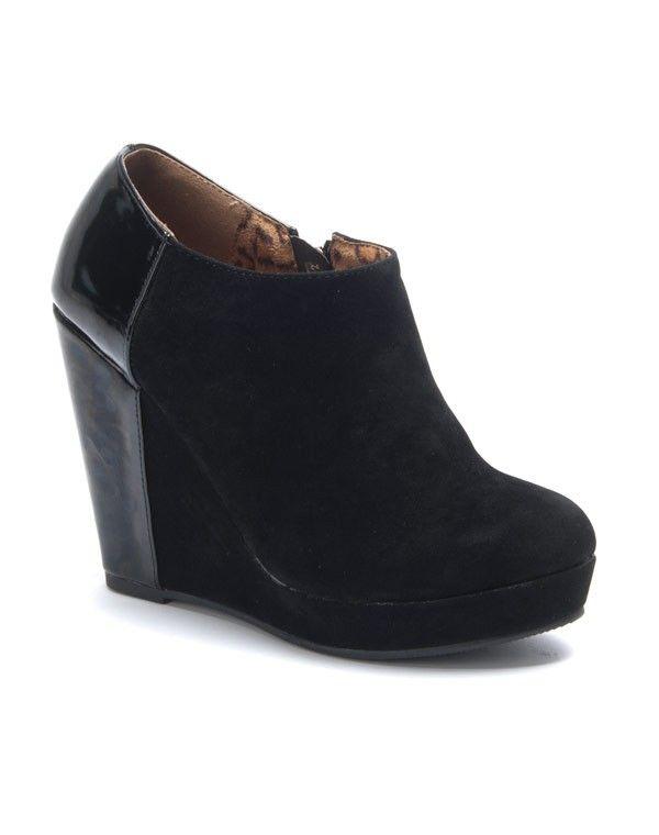 texture nette offre style attrayant Chaussures femme Sinly: Bottines à talons compensés noire