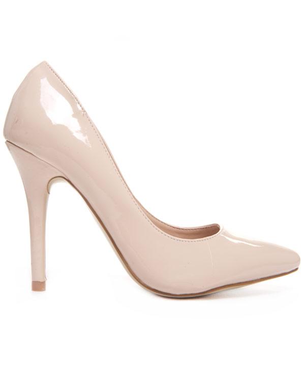 8c3b924450c Chaussures femme Style Shoes  Escarpin beige vernis