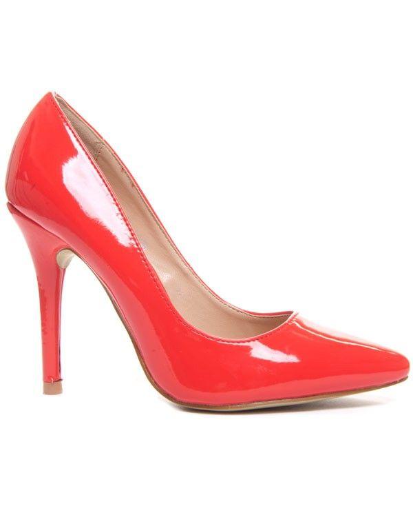 By Shoes Femme Escarpin Talon Haut Style Vernis