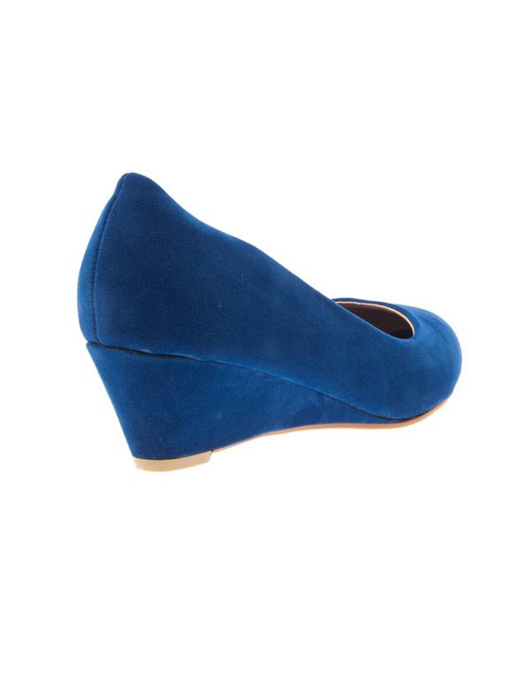 joli design quantité limitée livraison rapide Chaussures femme Style Shoes: escarpins compensés bleu
