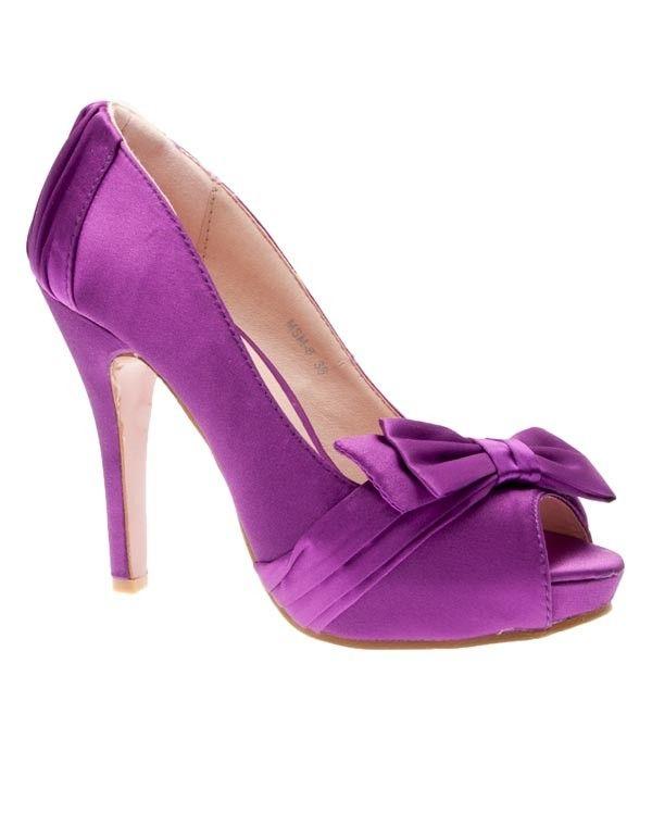 Chaussures femme Sunrise C: Escarpin satiné violet