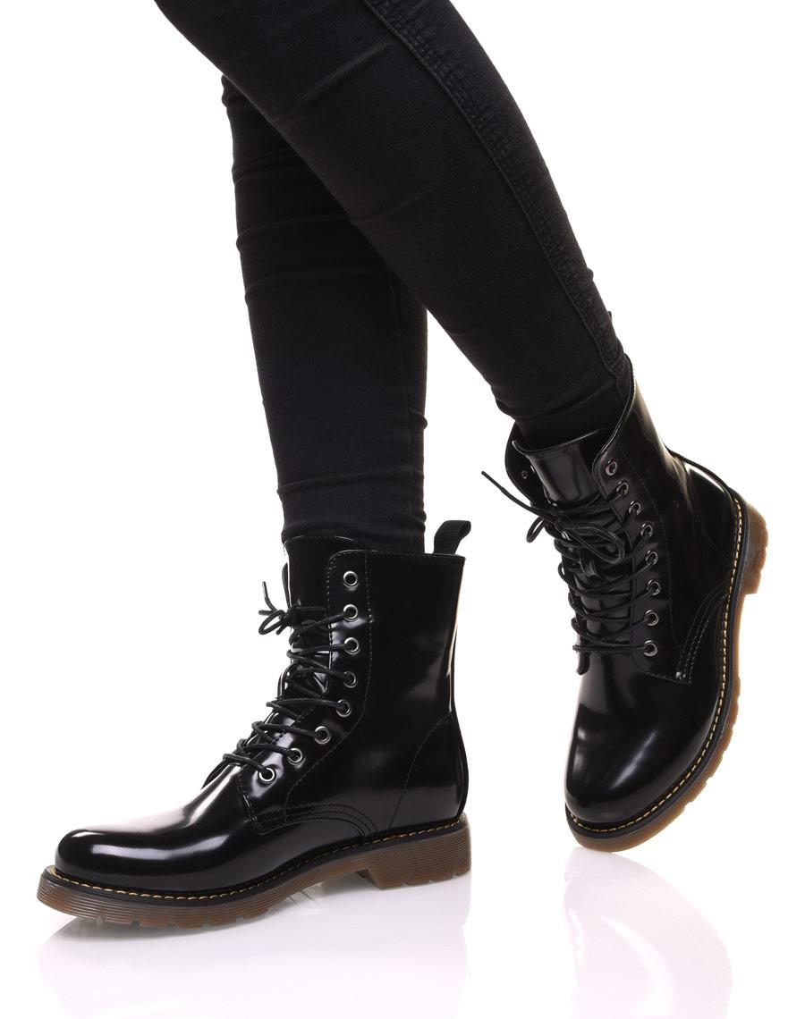Chaussures Noires Montantes Vernis Vernis Montantes Noires Chaussures Chaussures xhrBosQCtd