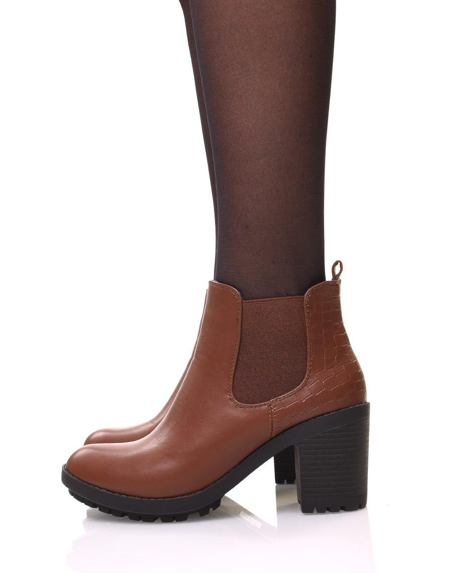 chelsea boots talons. Black Bedroom Furniture Sets. Home Design Ideas
