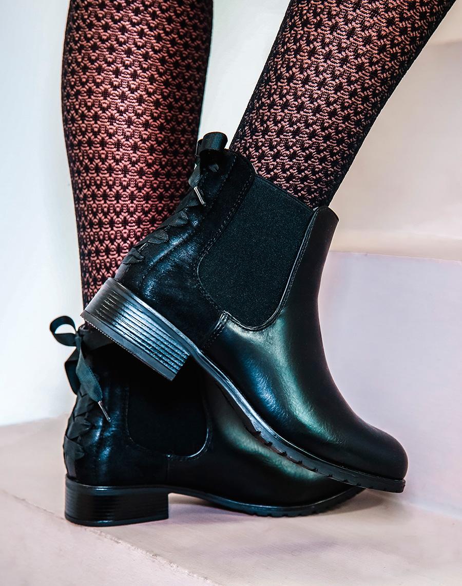 professionnel super pas cher sélectionner pour véritable Chelsea boots noires à noeuds