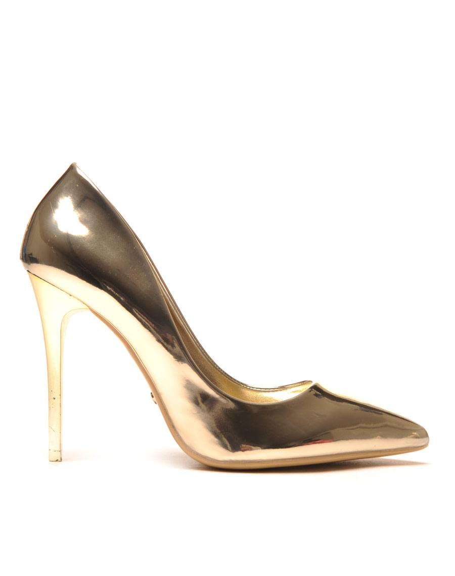 escarpin dore mtallis chaussure femme pas cher. Black Bedroom Furniture Sets. Home Design Ideas