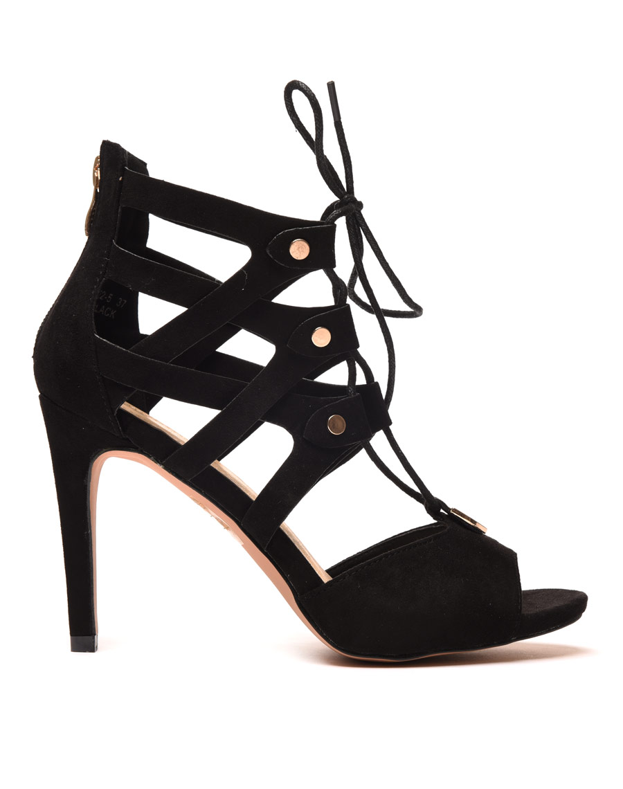 chaussure femme escarpin noir lacet. Black Bedroom Furniture Sets. Home Design Ideas