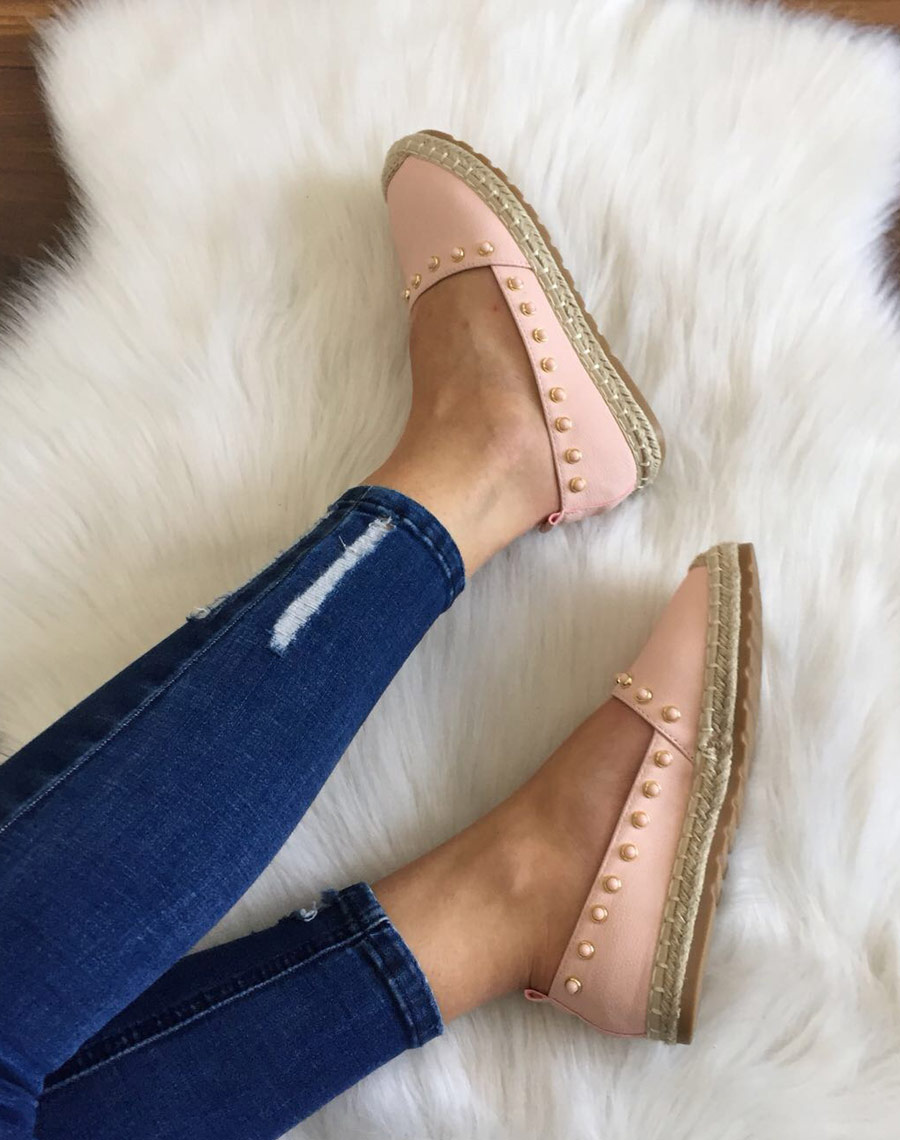 quality products buying now half price Espadrilles roses ornées de perles