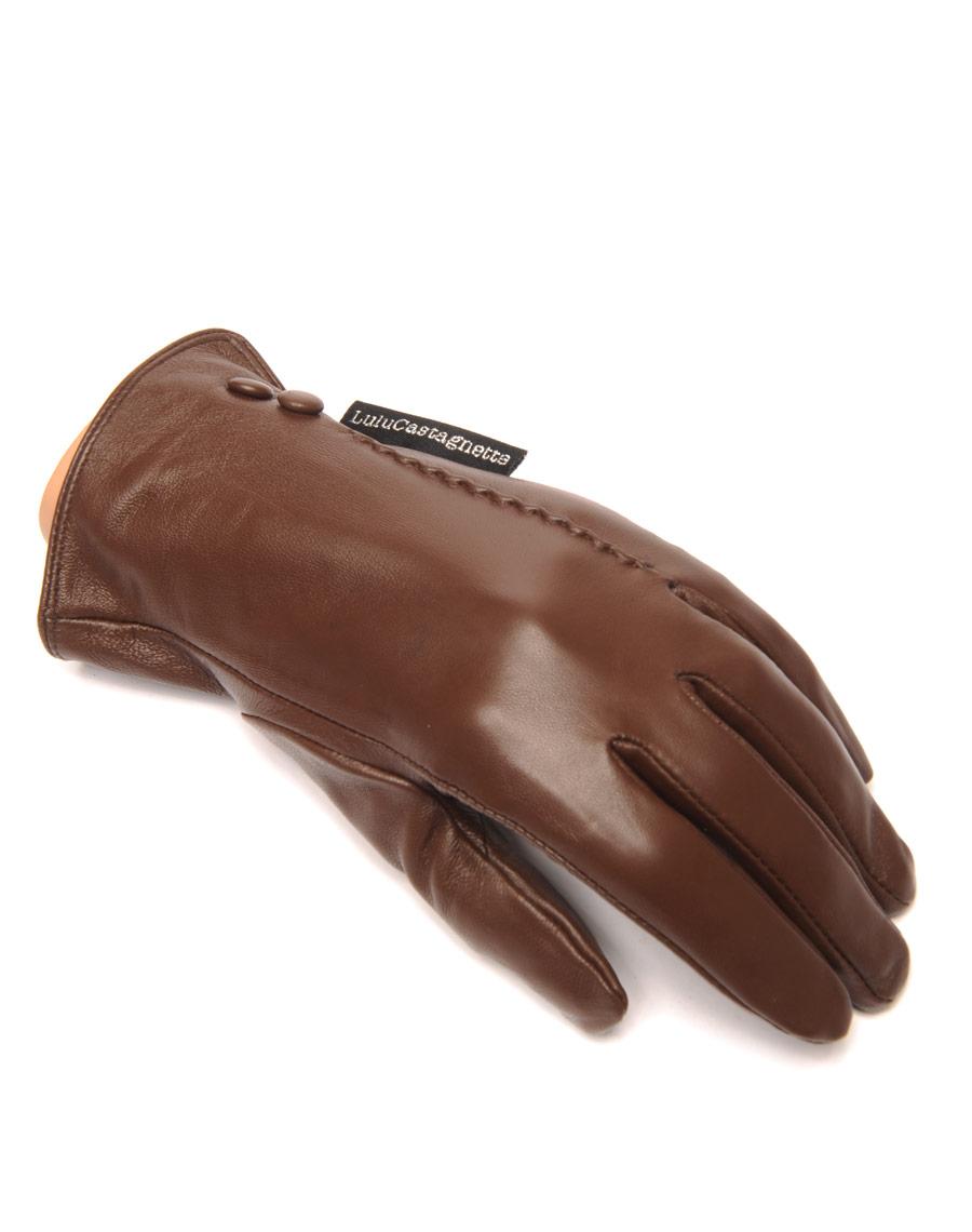 gants en cuir chocolat lulucastagnette 2 boutons d co. Black Bedroom Furniture Sets. Home Design Ideas