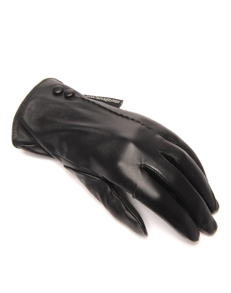 gants en cuir noir lulucastagnette 2 boutons d co. Black Bedroom Furniture Sets. Home Design Ideas