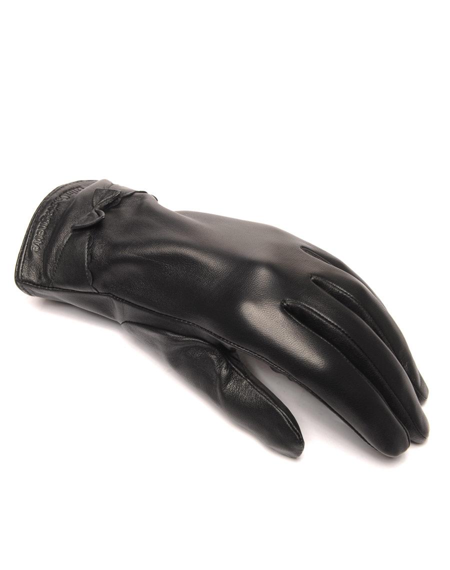 gants en cuir noir lulucastagnette noeud pas cher. Black Bedroom Furniture Sets. Home Design Ideas