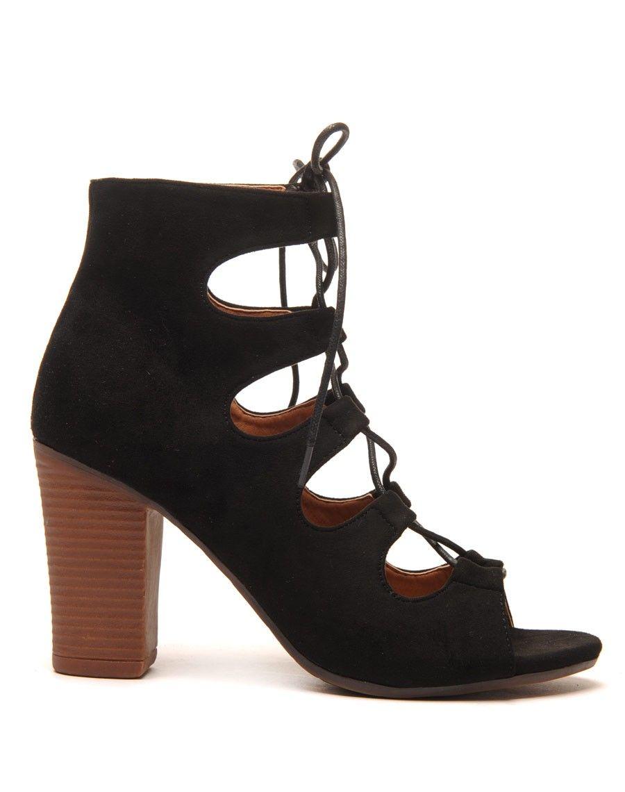 31e44c17ce3 boots femme bout ouvert