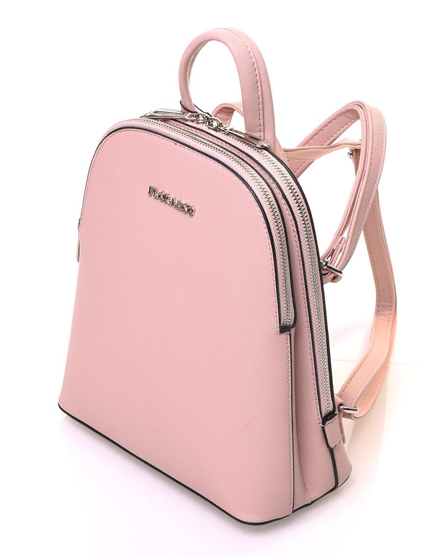 plus de photos 56328 2b0a8 Petit sac à dos rose pale à bretelles fines