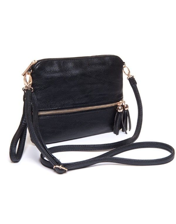 c731b7cd61 Petit sac femme Be Exclusive: Petite pochette à main noire