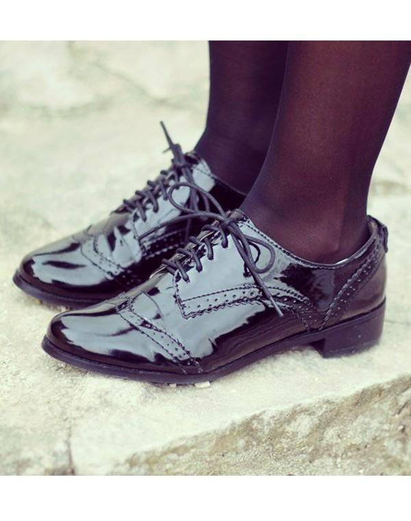 Chaussures à lacets noires Fashion femme 6HxK6gFxqk