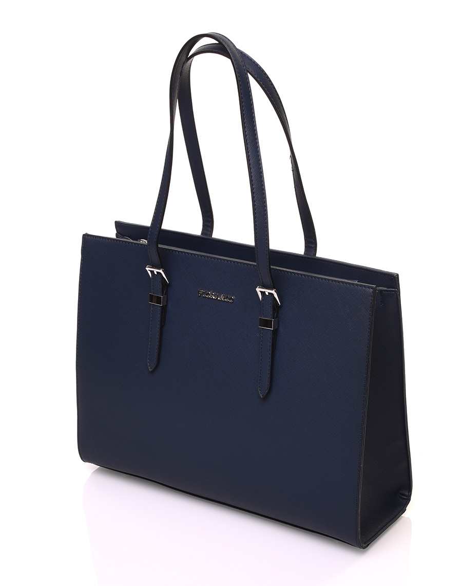 factory femme meilleurs tissus Sac à main bleu marine rigide de forme rectangulaire
