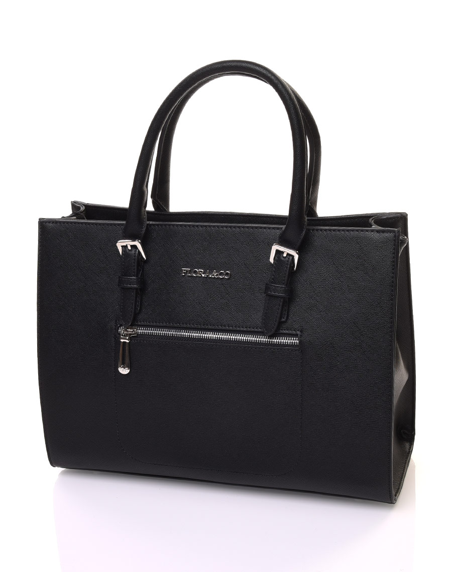 sac main cabas noir. Black Bedroom Furniture Sets. Home Design Ideas