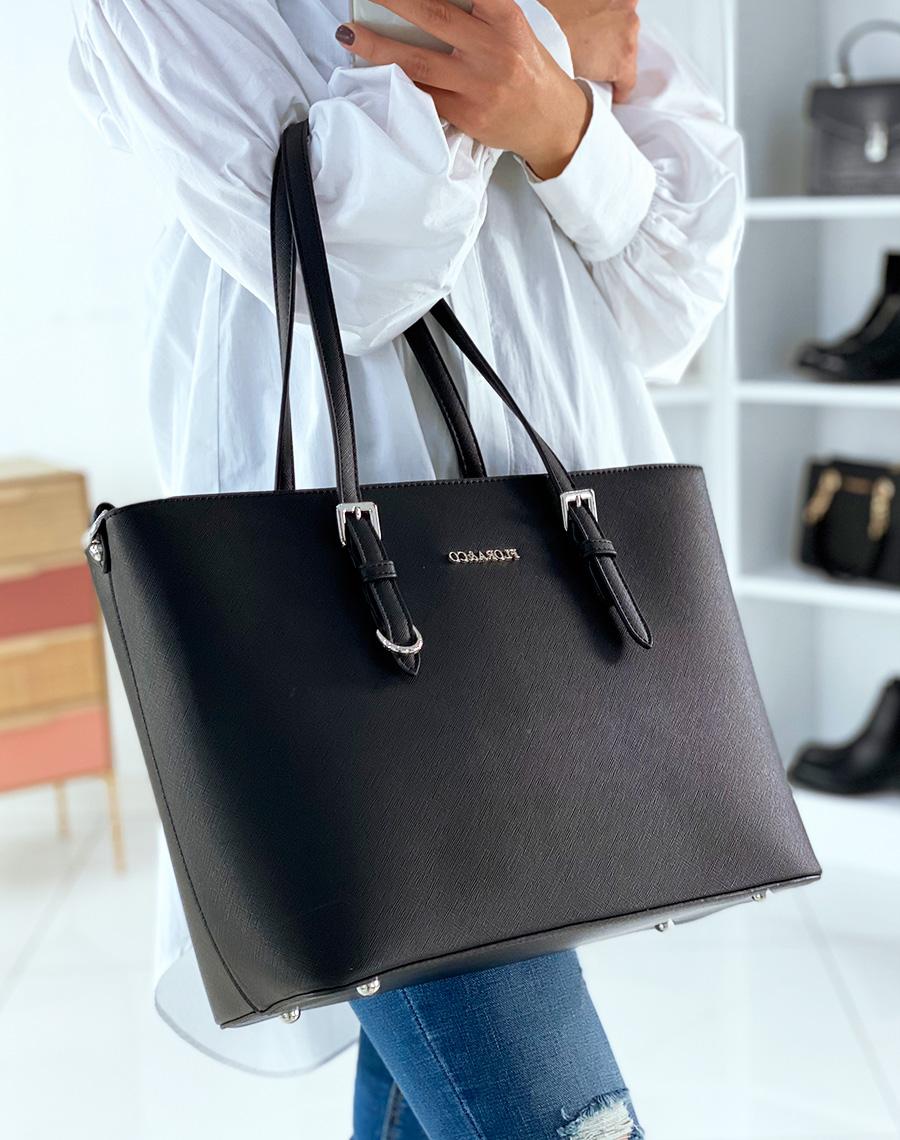 sac cabas classe noir. Black Bedroom Furniture Sets. Home Design Ideas