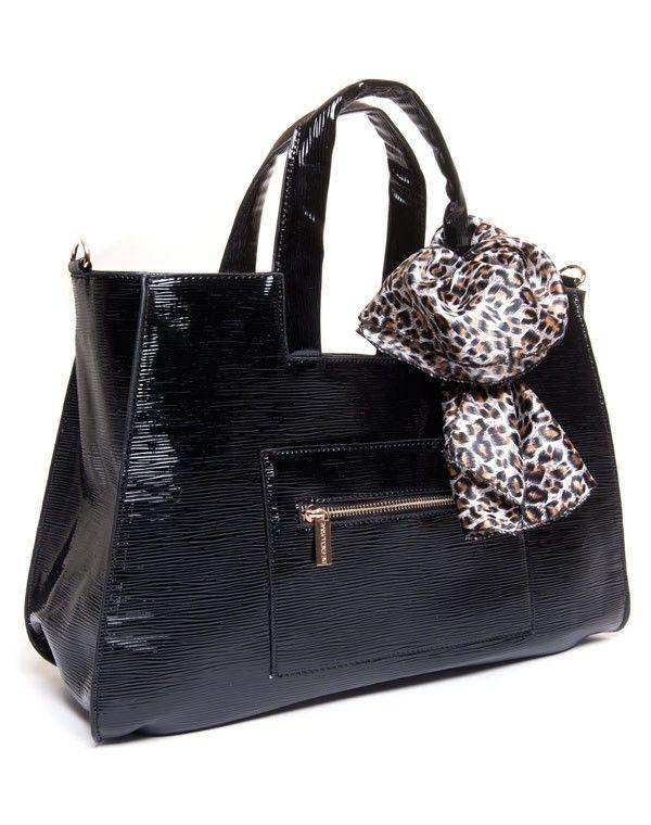 sac femme be exclusive sac main noir verni. Black Bedroom Furniture Sets. Home Design Ideas