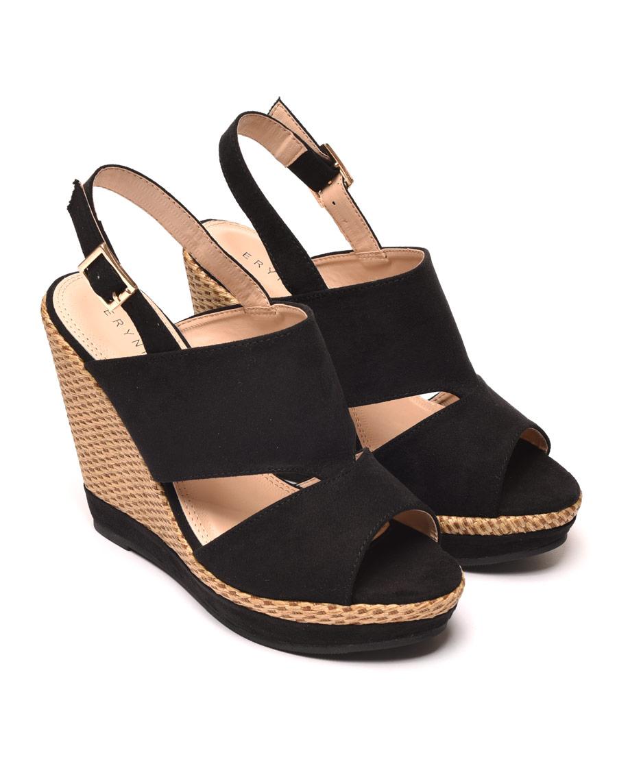 Pas Erynn Noire Sandale Cher Compensée Fc1TlJK