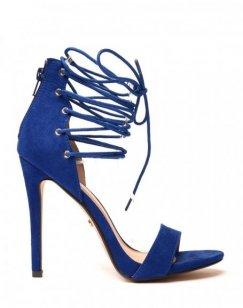 Escarpins bleus lacets