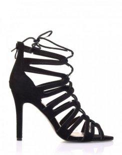 Escarpins lacés noirs