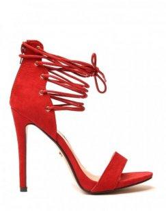 Escarpins rouges lacets