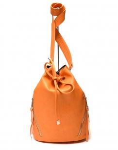 Grand sac bourse jaune oranger
