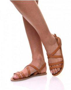 Nu pieds multi bride camel