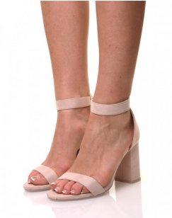 Sandales beiges en suédine