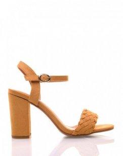 Sandales jaunes en suédine